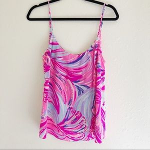 Lilly Pulitzer Tops - Lilly Pulitzer Silk Tank Top